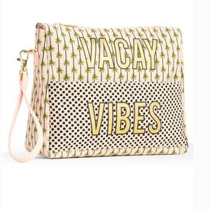 "Handbags - ""Vacay Vibes"" Wristlet Front Pocket Pouch"